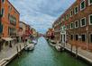 Tekening grachten van Murano